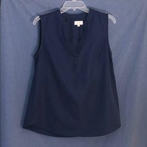 Mud pie blouse, size medium, navy blue